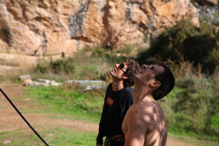Joe and Primo scoping moves in La Cueva.