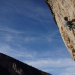 Bernardo making his way up Mallorca is Funky 7c+, 13a.