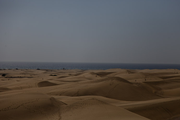 Sand Dunes in the south part of Gran Canaria Island.
