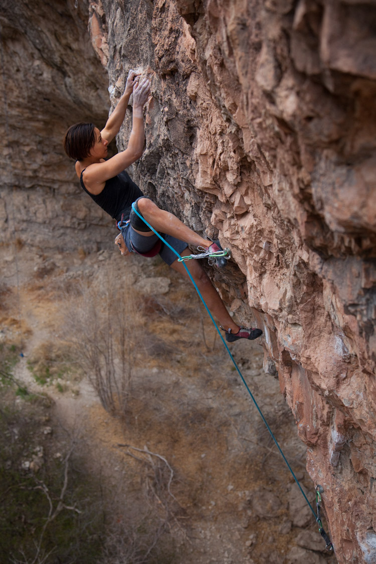 Vian sessions the moves Tomb Raider, 13d in Rifle Canyon, CO a few days before sending.