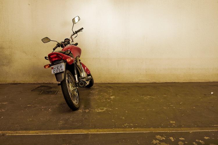 HER motorcycle Uberlandia, Brazil.