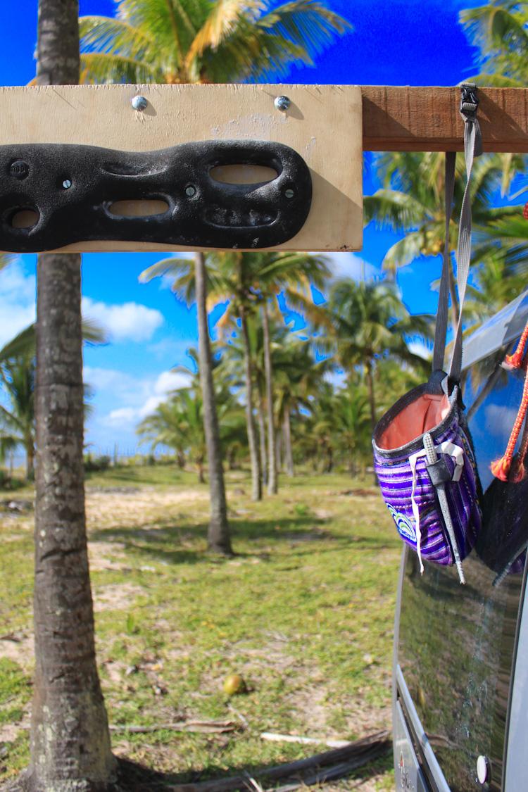 Climbing training set up in Bahia.