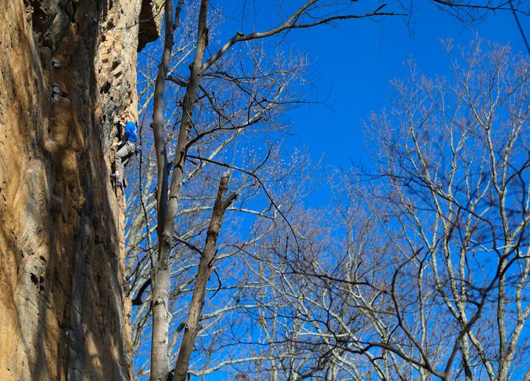 Sunny day in Castle Rock, TN