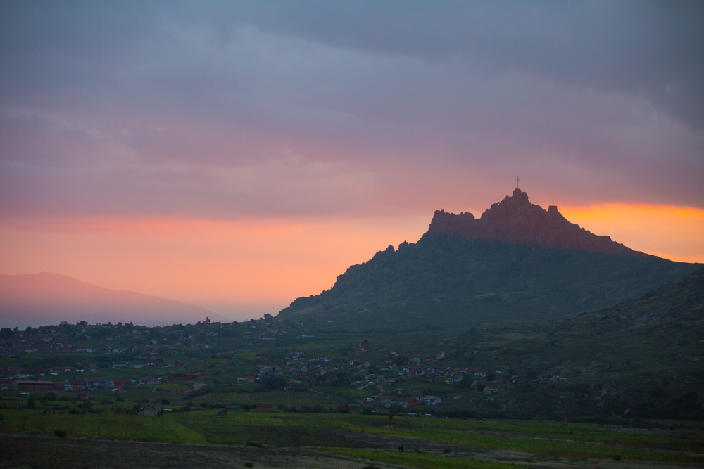 Macedonia sunset in Prilep.