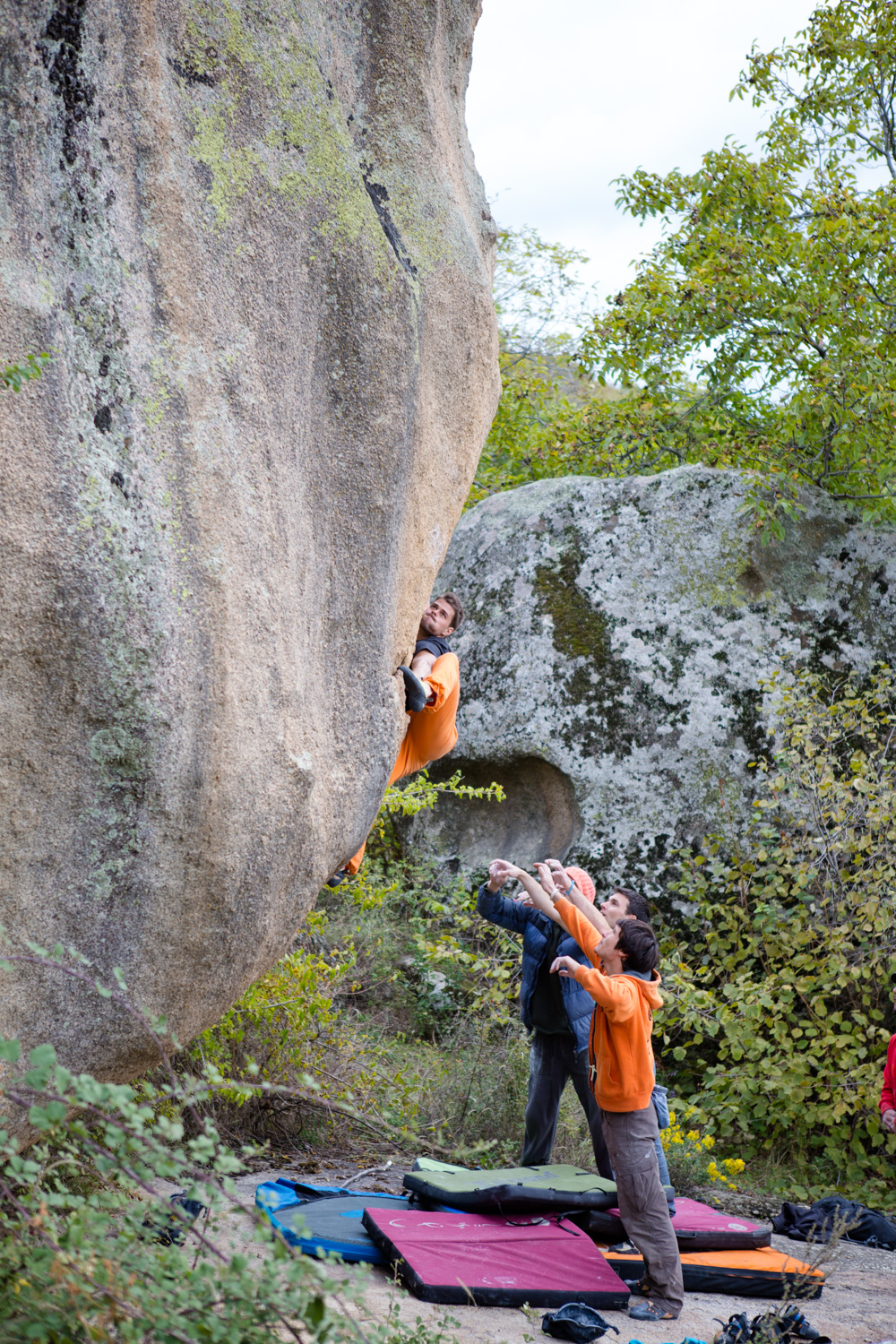 Try hard face in Prilep Macedonia during the Petzl Roc Trip.